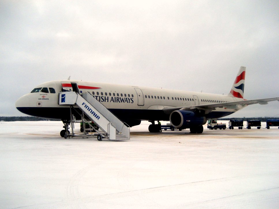 Brittish airways landade på Kuusamo flygfält
