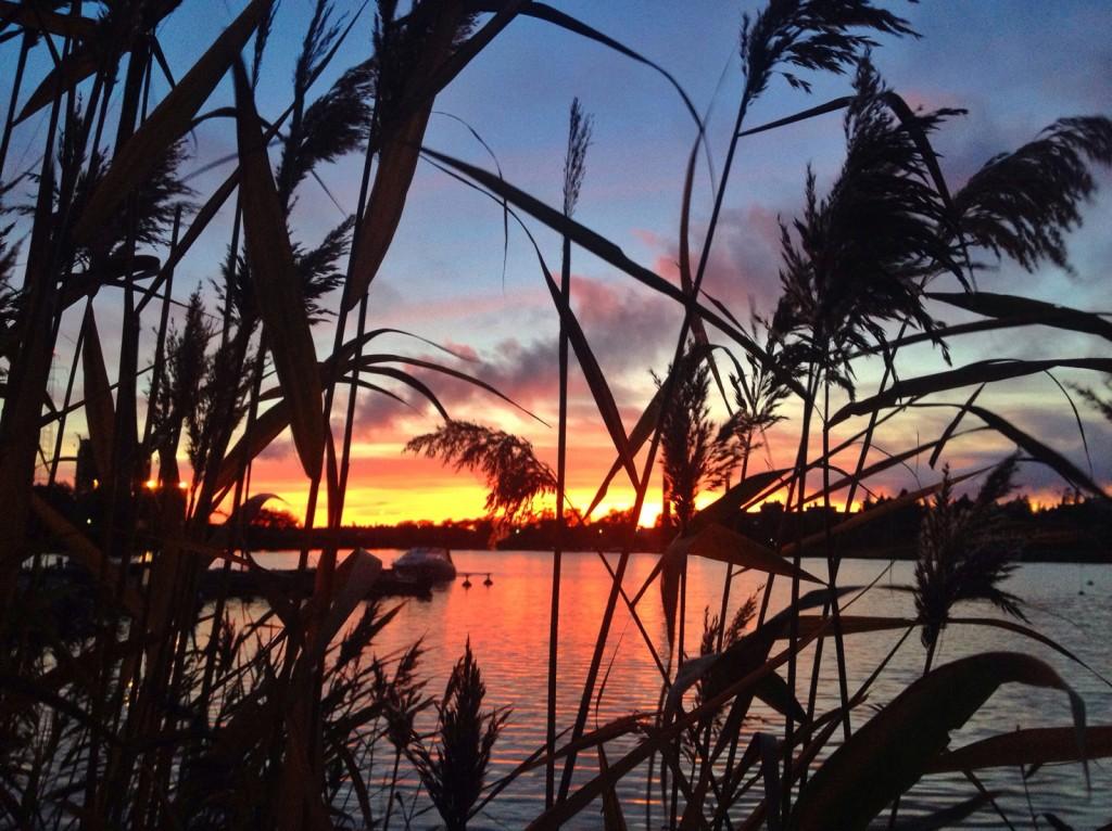 vasa skärgård solnedgång