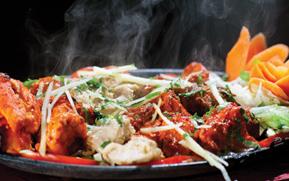 Välsmakande indisk mat på Kaavya Kitchen