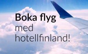 Nyhet! Boka flyg med HotellFinland!