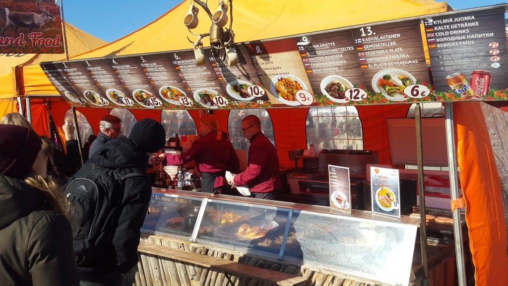Streetfood på salutorget i Helsingfors
